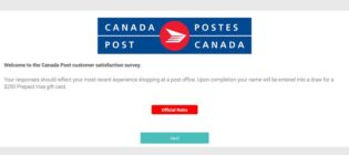 Canada Post Corporation Customer Satisfaction Survey Contest