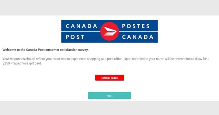 Canada Post Corporation Customer Satisfaction Survey Contest