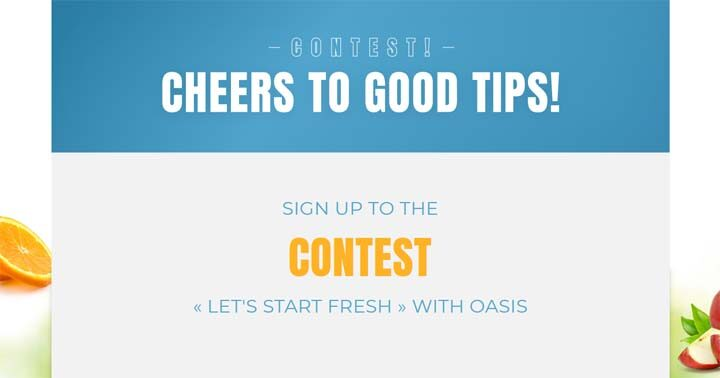 Let's start fresh with Oasis Contest