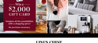 Linen Chest Win a $2,000 Shopping Spree Contest