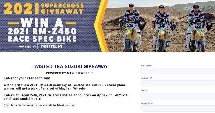 Mayhem Wheels Twisted Tea H.E.P. Supercross Giveaway