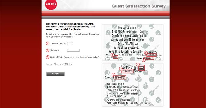 AMC Guest Satisfaction Survey Sweepstakes
