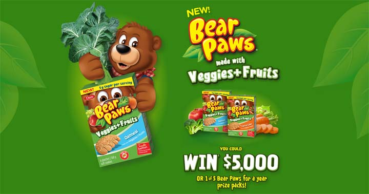Dare Bear Paws Veggies + Fruits Giveaway Contest