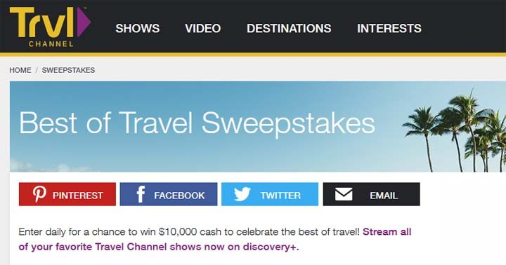 Best of Travel Channel Sweepstakes