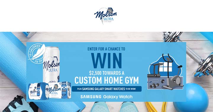 Molson Ultra Workout Give-aways Contest