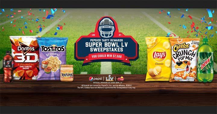 PepsiCo Tasty Rewards Super Bowl Sweepstakes