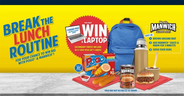 Pogo & Manwich Laptop Lunch Time Favourites Contest