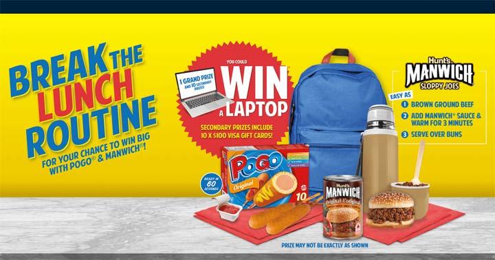 Pogo & Manwich Laptop Lunch Time Favourites Contest