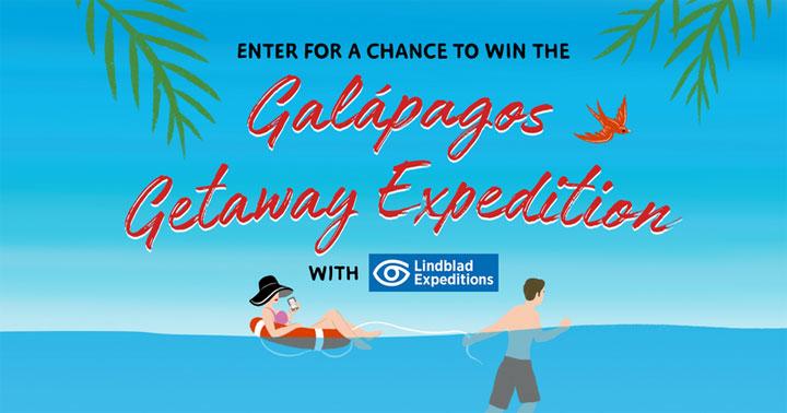 Simon & Schuster Galapagos Getaway Cruise with Lindblad Expeditions Sweepstakes