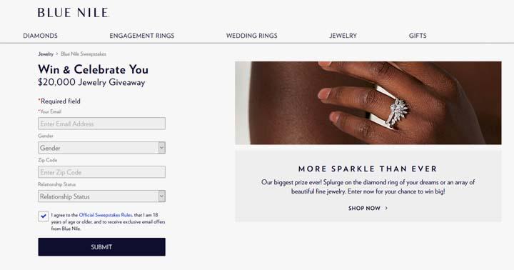 Blue Nile $20,000 Celebrate You Giveaway
