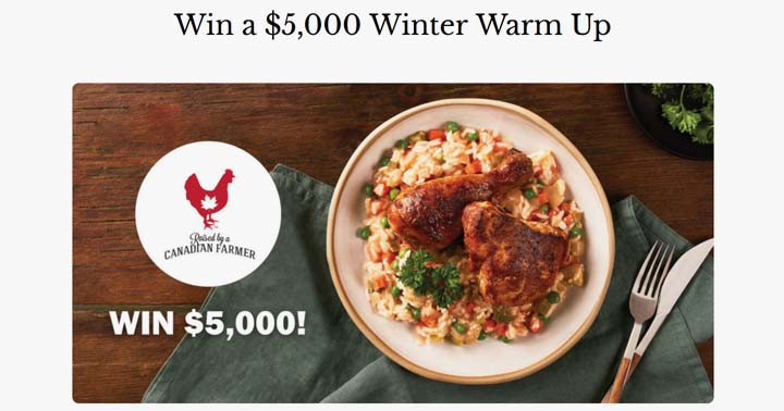 Canadian Chicken Farmers Win a $5,000 Winter Warm Up Contest