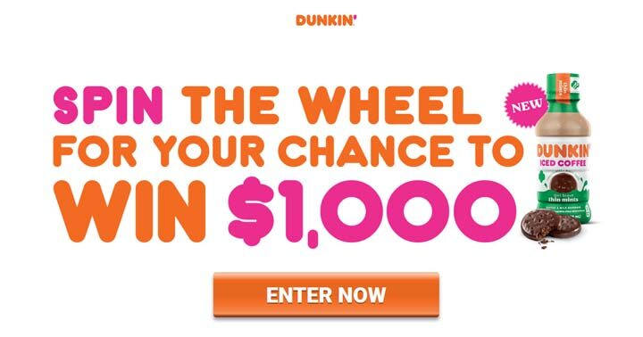 Dunkin' Spin Sweepstakes