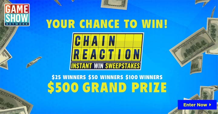 Game Show Network Chain Reaction Instant Win Sweepstakes