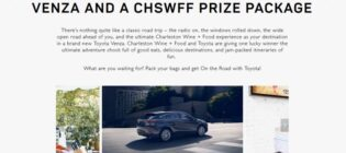 Toyota and Charleston Wine + Food Sweepstakes