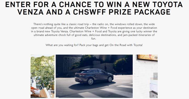 Toyota and Charleston Wine + Food Sweepstakes