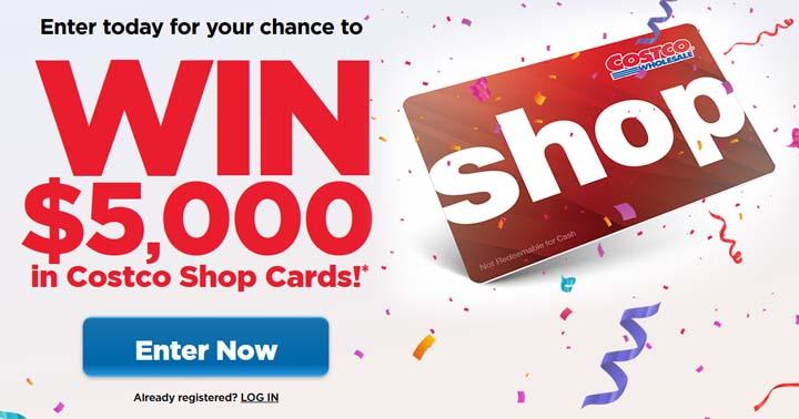 Win $5,000 in Costco Shop Cards Contest