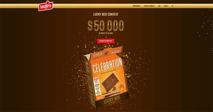 Biscuits Leclerc Lucky Box Célébration Contest