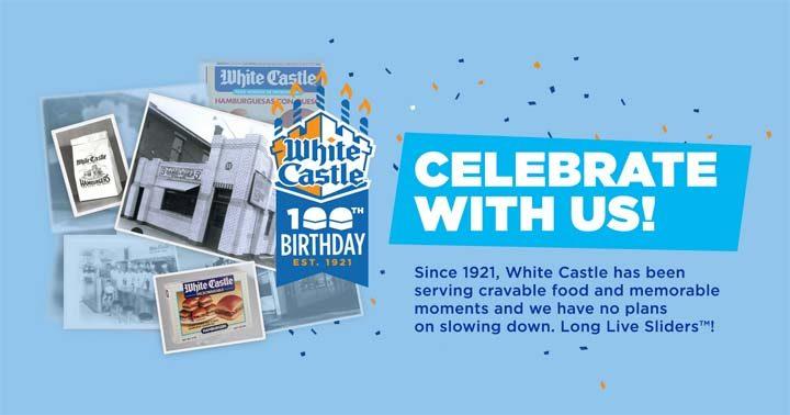 White Castle Time Machine 100th Birthday Celebration Promotion