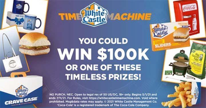White Castle Time Machine 100th Birthday Celebration Sweepstakes Prizes