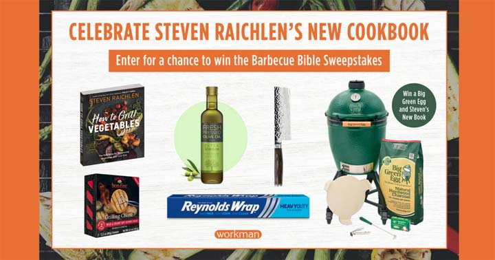Celebrate the Release of Steven Raichlen's New Cookbook Sweepstakes