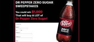 Dr Pepper Zero Sugar Sweepstakes