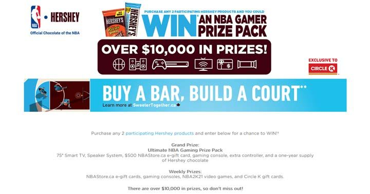 Hershey and Circle K Ultimate NBA Gaming Contest