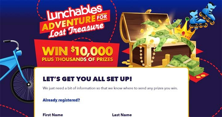 Lunchables Adventure for Lost Treasure Promotion
