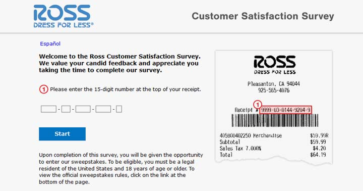 Ross Dress for Less Customer Satisfaction Survey Contest