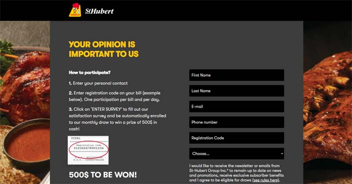 St-Hubert Customer Satisfaction Survey Contest