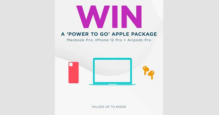 Tip Top Win a Power to go Apple Package Contest