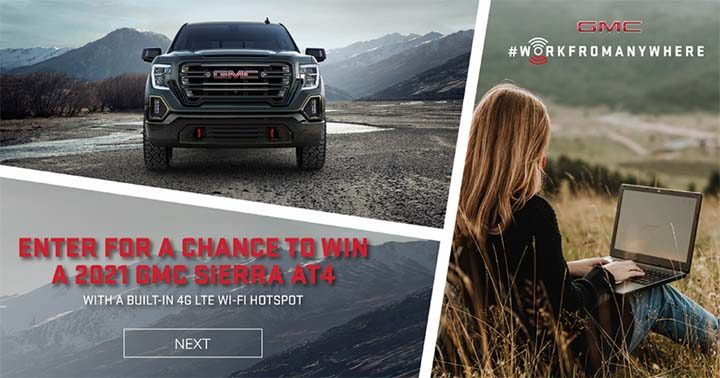 GMC Work From Anywhere Sweepstakes