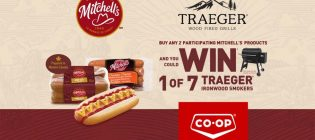 Mitchell's Win 1 of 7 Traeger Smokers Contest