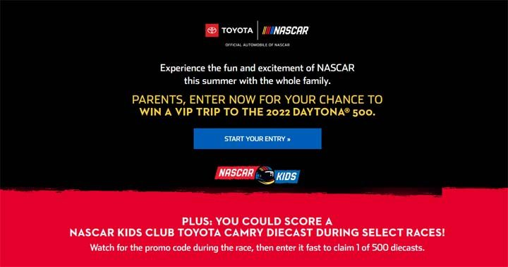 NASCAR Kids 500 Promotion Sweepstakes
