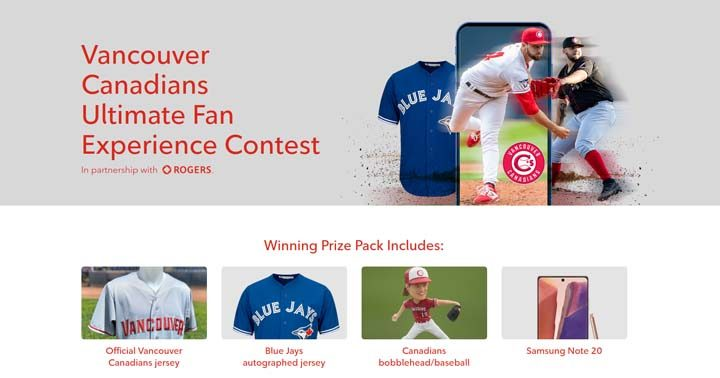 Vancouver Canadians Ultimate Fan Experience Contest