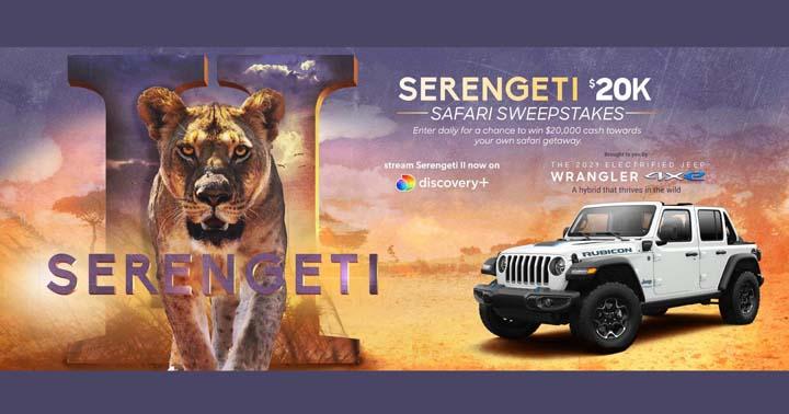 Discovery Serengeti $20K Safari Sweepstakes