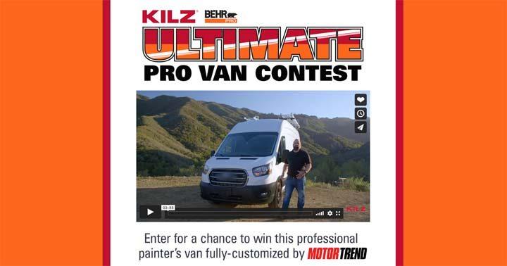 Kilz & Behr Pro Ultimate Pro Van Contest