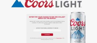 Coors Light Merch Sweepstakes
