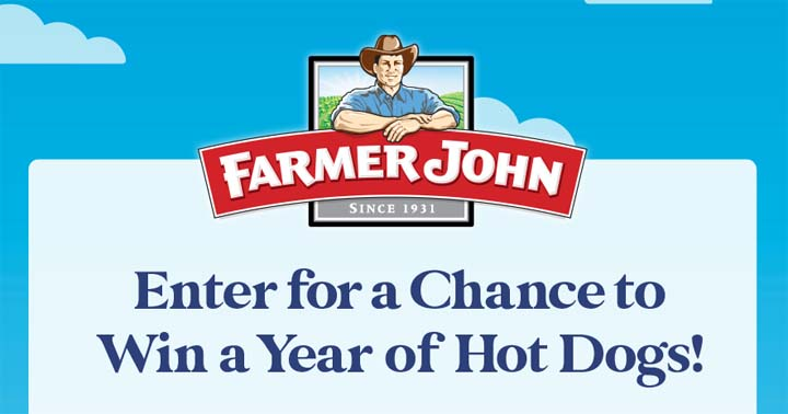 Farmer John Hot Dogs for a Year Sweepstakes