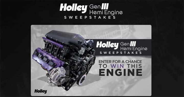 Holley Gen III Hemi Engine Sweepstakes