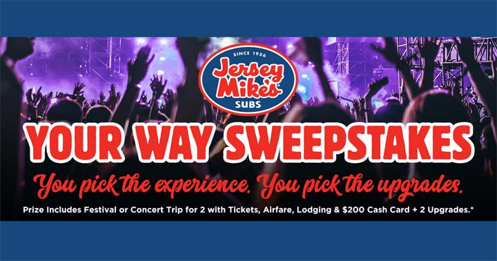 Jersey Mike's Your Way Sweepstakes