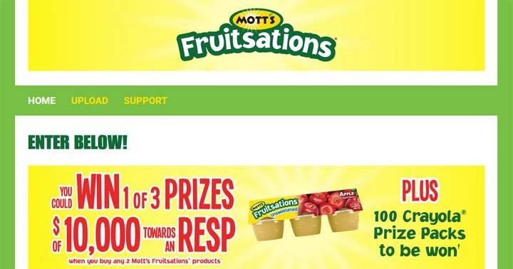 Mott's Fruitsations RESP Contest