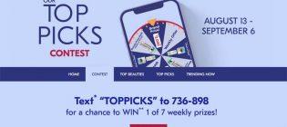 Shoppers Drug Mart Top Picks Contest