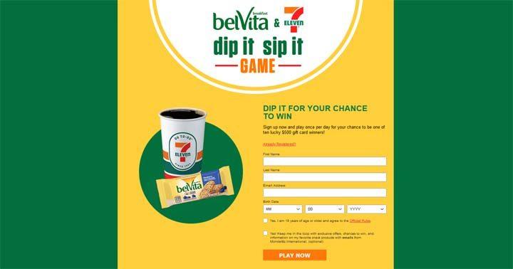 7-Eleven belVita Dip It Sip It Dunk-O Game Contest