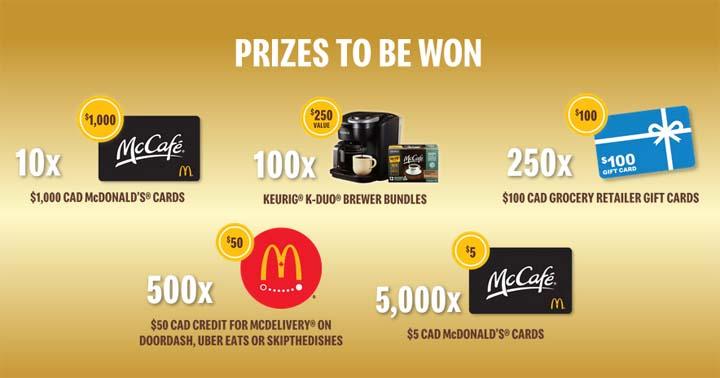 Keurig McCafé VIP Contest Prizes