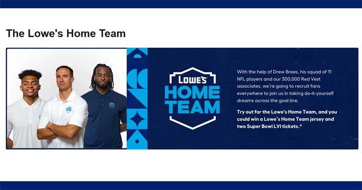 Lowe's Home Team Contest