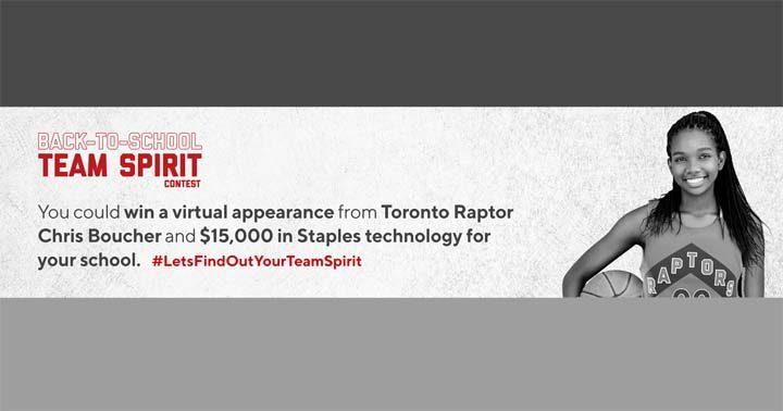 Staples x Toronto Raptors Back-to-School Team Spirit Contest