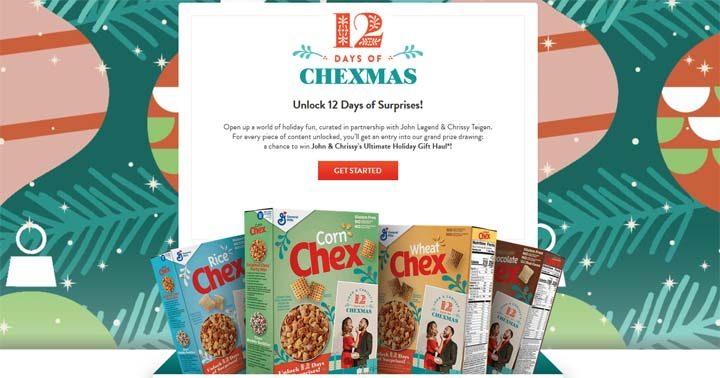 John & Chrissy's 12 Days of Chexmas Sweepstakes